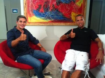 O jogador Luis Fabiano recebe o apresentador Ivan Moré em sua casa para entrevista exclusiva. (Foto: TV Globo/ Andrey Cassaro)