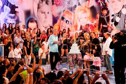Xuxa e Pedro Bial. - Crédito: TV Globo/ Matheus Cabral